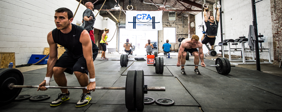 CrossFit Athletics Group Action Shot